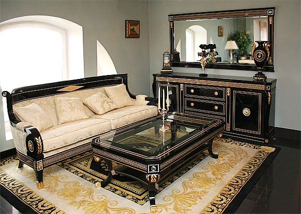Living Room Set In Empire Styletop And Best Italian